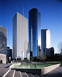 Downtown Houston from Tranquility Park - Impressive 16x20-inch Photographic Print by Carol M. Highsmith
