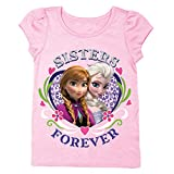 Disney Frozen Sisters Forever Girls Pink T-Shirt | 5T
