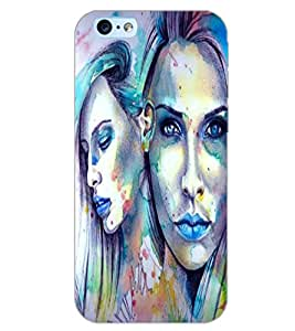 PrintDhaba GIRL PATTERN D-6231 Back Case Cover for APPLE IPHONE 6 (Multi-Coloured)