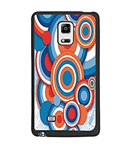 PrintDhaba Circular Pattern D-5293 Back Case Cover for SAMSUNG GALAXY NOTE 4 (Multi-Coloured)