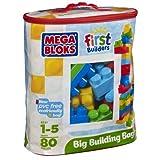 Mega Bloks Big Building Bag Assortment, Multi Color (80 Pieces)
