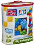 Mega Bloks Big Building Bag, 80-Piece...