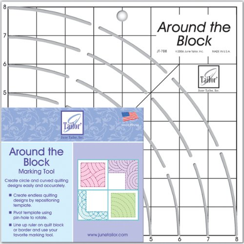 June Tailor 8-Inch-by-8-Inch Around The Block Ruler