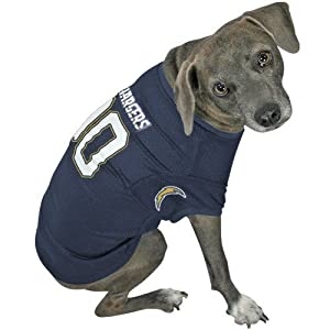 NFL San Diego Chargers Navy Blue Dog Jersey (Medium)