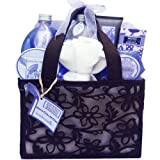 Inspiration of Lavender Spa Bath and Body Tote Gift Basket