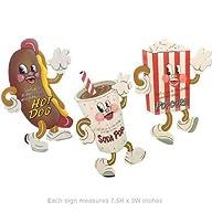 Dancing Snacks- Set of 3 Tin Sign