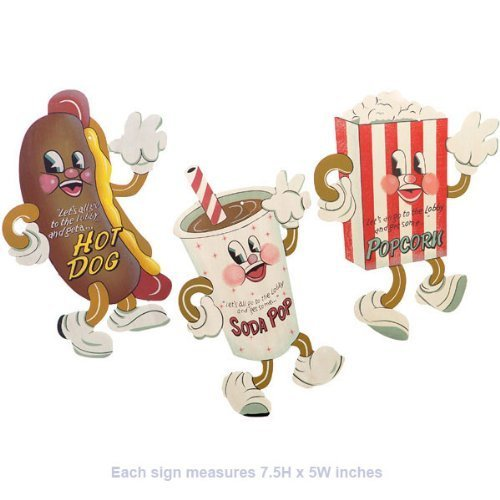 Dancing Snacks- Set of 3 Tin Sign 7 x 5in (Dancing Soda compare prices)