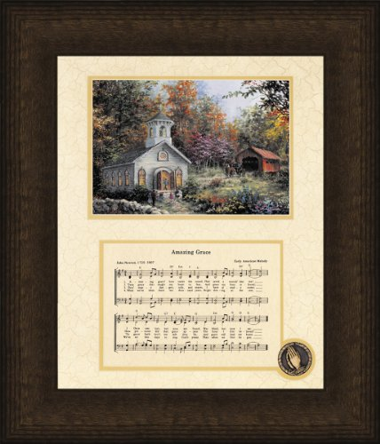 Amazing Grace Song with Church Framed Art - 10 X 12 (Amazing Grace Picture compare prices)