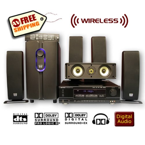 5.1 Wireless SLS Q-line Gold 650w Surround Sound Home Theater