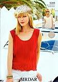 Sirdar Flirt DK Ladies Knitting Pattern 9269