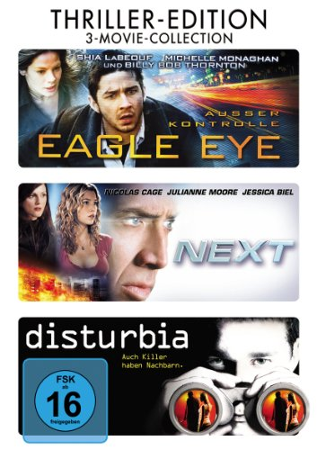 Disturbia / Eagle Eye / Next [3 DVDs] [Edizione: Germania]