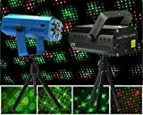 Top Race® LED Mini Stage Light Laser Projector Club Dj Disco Bar Stage Light Voice-activated Version FDA & Amazon Standards Laser Type: Class IIIR