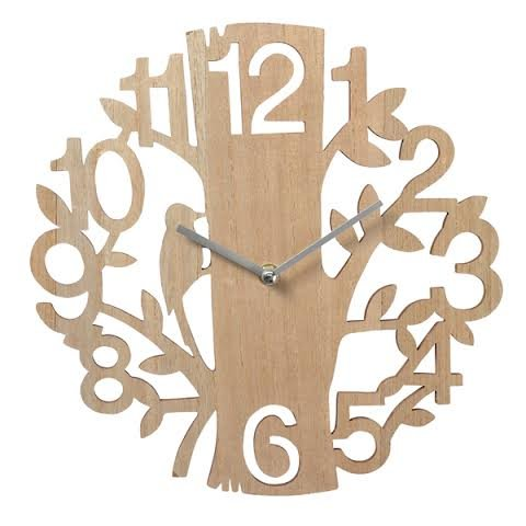 natural-wood-treebird-wall-clock-30cm