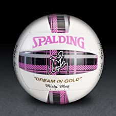 Misty May Pink Plaid Volleyball