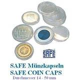 25 SAFE Münzkapseln CAPS 325 / 32,5 PP Randlos - ohne Rand - Ideal für 10 EURO - 10 DM 10 Mark DDR Münzen - Coincaps - Münzenkapseln