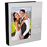Personalised 'Silver Swirl' Photo Frame cover, 6x4 Photograph Album - FREE ENGRAVING - Perfect for Weddings, Engagements, Birthdays, Anniversaries, For Couples, For Her, For Him