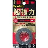 3M スコッチ 超強力両面テープ プレミアゴールド スーパー多用途 粗面用 12mm×1.5m KPR-12
