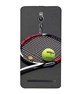 Vizagbeats Tennis Racket and Ball Back Case Cover for Asus Zenfone 2::Asus Znfone 2 ZE550ML