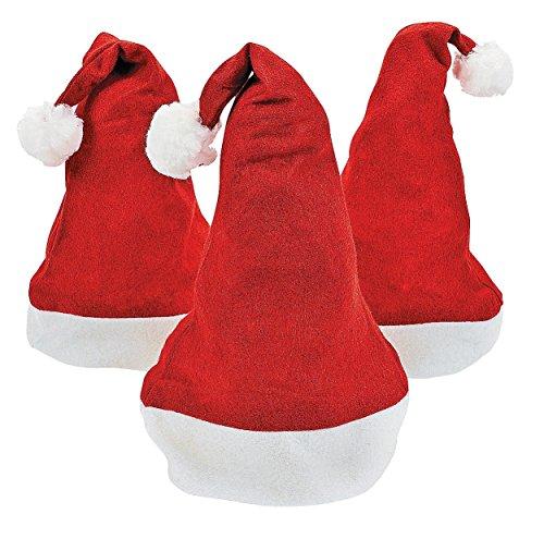 1 Dozen Felt Santa Hats