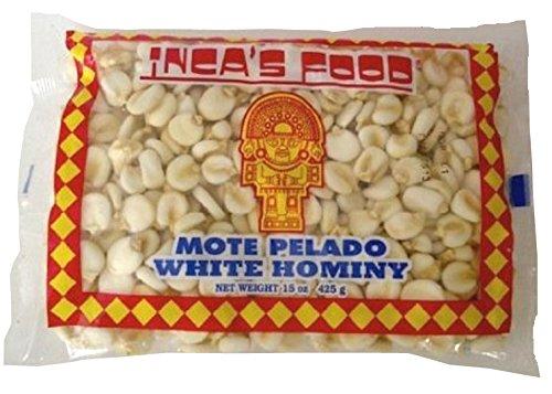 Inca's Food Mote Pelado - White Hominy  Via Amazon