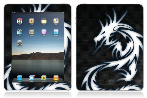 Bundle Monster Vinyl Skin Case Cover Art Decal Sticker Protector Accessories for Apple Ipad Tablet 16gb, 32gb, 64gb Wifi or 3G - Blue Dragon