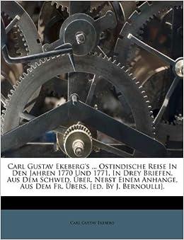 Carl Gustav Ekeberg S Ostindische Reise In Den Jahren