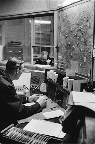 vintage-photo-of-radio-police-headquarters-announcer-shouts-out-orders-to-the-police-cars-marked-on-