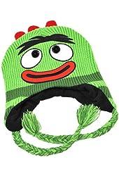 Mens Green Knit Yo Gabba Gabba Peruvian Trapper Hat