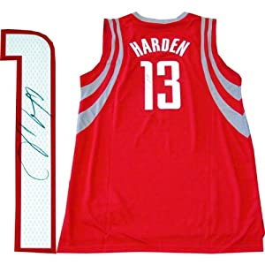 James Harden Autographed Houston Rockets Red Jersey by Hollywood Collectibles