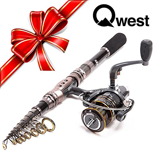 qwest-69-telescopic-spinning-fishing-rod-and-reel-combo-carbon-fiber-pole