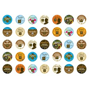 Crazy Cups Wolfgang Puck Sampler,  K-Cup Portion Pack for Keurig K-Cup Brewers (Pack of 35)