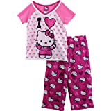 "Hello Kitty ""I Heart Kitty"" Pink Pajamas 4-10"