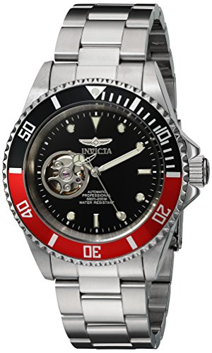 invicta pro diver homme bracelet boitier acier inoxydable automatique cadran noir montre 20435. Black Bedroom Furniture Sets. Home Design Ideas