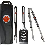 NCAA Clemson Tigers Stainless Steel BBQ Tool Set with Bag at Amazon.com