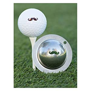 Tin Cup Golf Ball Custom Marker Tool - Stache by Tin Cup