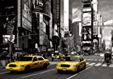 Photo Wall Mural NEW YORK (286) - 3,66m x 2,54m, 8 Sheets-Wallpaper- Times Square Yellow Taxis Brooklyn Bridge Manhattan USA America Skyline City Cars Landscape Nature Kitchen Kids Bedroom