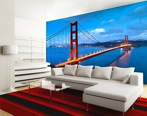 fototapete golden gate br ist in ihrem einkaufwagen hinzugef gt worden eur 49 95 eur 6 90. Black Bedroom Furniture Sets. Home Design Ideas