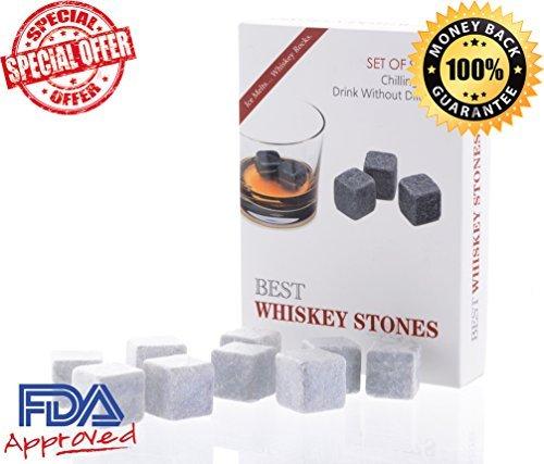 Wishstone discount duty free Wishstone Whiskey Stones Set of 9- Whisky Stone Gift Box with Velvet Storage Pouch