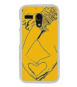 Heart Hands 2D Hard Polycarbonate Designer Back Case Cover for Moto G Turbo Edition :: Moto G Turbo (Virat Kohli Edition)