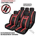 Mazda RX7 Sports Seat Cover Set Red