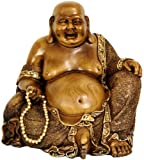 516NdIBi8vL. SL160  Best Unique Family Group Gift Idea 2011   10 Large Sitting Prosperity Buddha Statue with Faux Bronze Finish