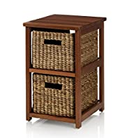 Water Hyacinth 2 Drawer Unit