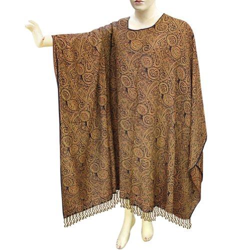 Long Sleeves Maternity Cotton Clothes Jamawar Paisley Design Kaftans Caftans