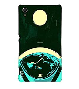 Omnam Neil Armstrong On Moon Affect Printed Back Cover Case For Sony Xperia Z4