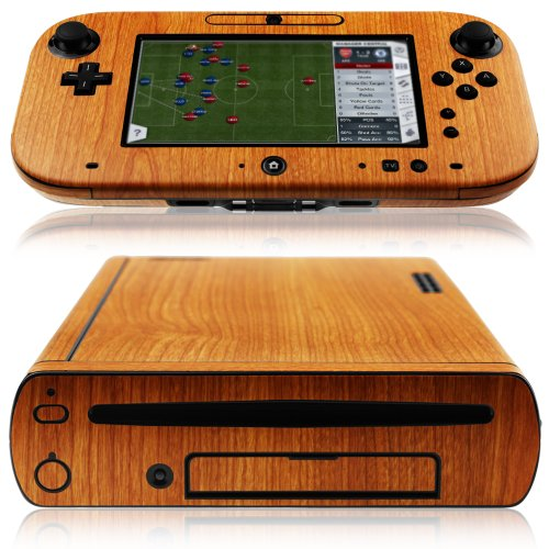 Skinomi-TechSkin-Nintendo-Wii-U-Screen-Protector-Light-Wood-Full-Body-Skin-Console-GamePad-Front-Back-Premium-HD-Clear-Film-Ultra-High-Definition-Invisible-Anti-Bubble-Shield