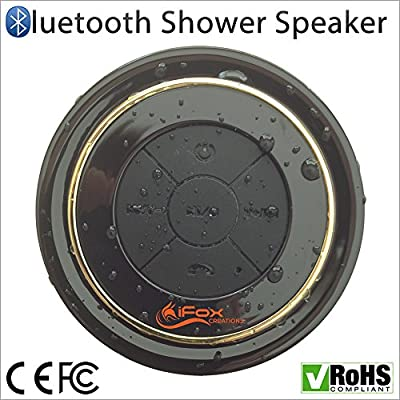 Bluetooth Shower Speaker - Waterproof & Dustproof - CE/ROHS/FCC Certified - Money-Back Guarantee - 2015 Model - Portable - Radio - Pairs with all Smartphones - iphone, Tablet - ipad, ipod, Android - Wireless Speakerphone - Music & Fun Indoor & Outdoor