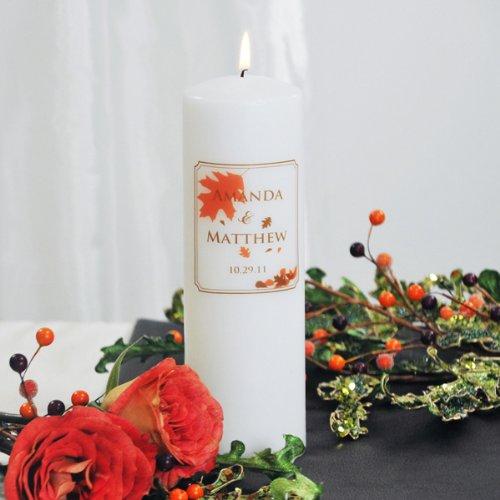 Fall Wedding Unity Candle - White