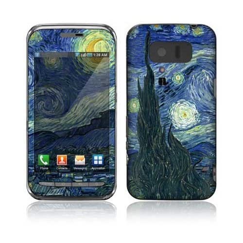 Starry Night Design Decorative Skin Cover Decal Sticker for Sharp Lynx 3D SH 03C Cell Phone