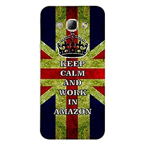 Skin4gadgets Keep Calm and WORK IN AMAZON - Colour - UK Flag Phone Skin for SAMSUNG GALAXY A8