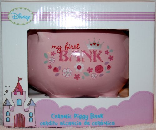 Disney Princess Ceramic Piggy Bank (My First Bank) - 1
